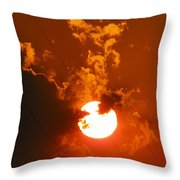 Sun On Fire Throw Pillow