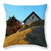 Sun On Granite Throw Pillow