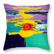 Sun On Sea Throw Pillow