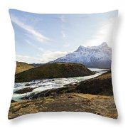Sun On The River Throw Pillow