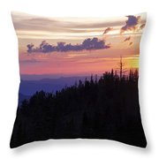 Sun Over Cedar Throw Pillow