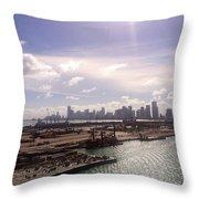 Sun Over Miami Throw Pillow