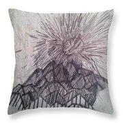 Sun Over The Smoky Mountains Throw Pillow
