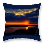 Sun Peaking Through Throw Pillow