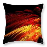 Sun Plumes Throw Pillow