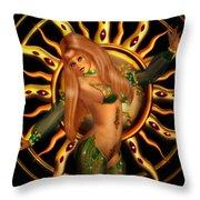 Sun Queen Throw Pillow