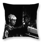 Sun Ra Arkestra At The Red Garter 1970 Nyc 23 Throw Pillow