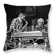 Sun Ra Arkestra At The Red Garter 1970 Nyc 3 Throw Pillow
