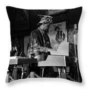 Sun Ra Arkestra At The Red Garter 1970 Nyc 38 Throw Pillow