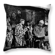 Sun Ra Arkestra At The Red Garter 1970 Nyc 4 Throw Pillow