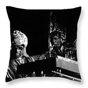 Sun Ra Arkestra At The Red Garter 1970 Nyc 7 Throw Pillow