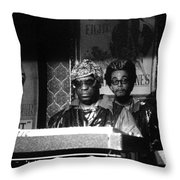 Sun Ra Arkestra At The Red Garter 1970 Nyc 8 Throw Pillow
