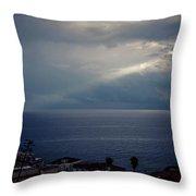 Sun Ray On The Med Throw Pillow