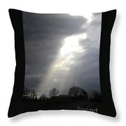 Sun Rays After Service Throw Pillow