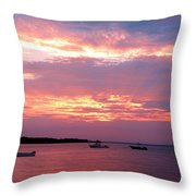 Sun Rays Through The Clouds Throw Pillow