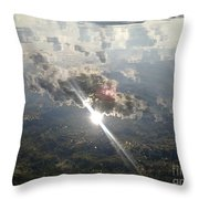 Sun Reflected On The Sea Throw Pillow