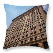 Sun Reflection On The Flatiron Building  Throw Pillow