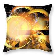 Sun Rings Spiral Throw Pillow