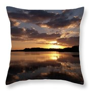 Sun Rise At West Lake In The Everglades Throw Pillow