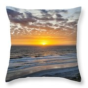 Sun Rising Over Atlantic Throw Pillow