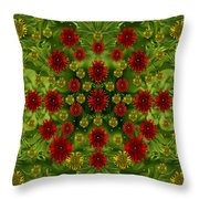 Sun Roses In The Deep Dark Forest With Fantasy And Flair Throw Pillow