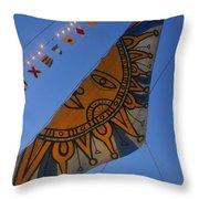 Sun Sailing Throw Pillow