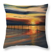 Sun Set At Seabridge Throw Pillow