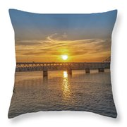 Sun Set Shoals Throw Pillow