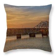 Sun Set Shoals2 Throw Pillow