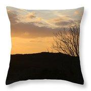 Sun Set Texas Throw Pillow