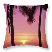 Sun Sets Between Pams Throw Pillow