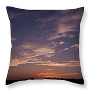 Sun Sets For The Day Throw Pillow