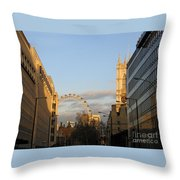 Sun Sets On London Throw Pillow