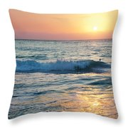 Sun Sets Over Seven Mile Beach Throw Pillow