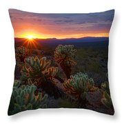 Sun Sets Over The Sonoran  Throw Pillow