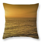 Sun Setting In Barbados Throw Pillow