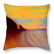 Sun Setting On Friars Bay Throw Pillow