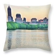 Sun Rise In Indianapolis Throw Pillow