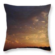 Sun Settles On Connecticut Throw Pillow