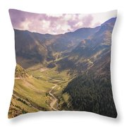Sun Shining In The Valley Throw Pillow