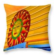 Sun Shopping Throw Pillow