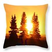 Sun Sorceress Throw Pillow