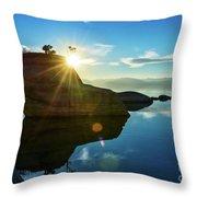 Sun Star Mirror Throw Pillow