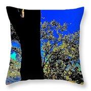 Sun Through Oak V3 Throw Pillow