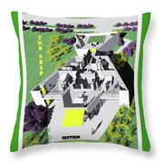 Sun Trap Section Perspective Throw Pillow