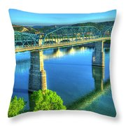Sun Up Reflections Chattanooga Tennessee Throw Pillow