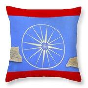 Sun Wheel Throw Pillow