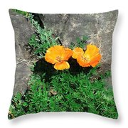 Sunbathers Throw Pillow