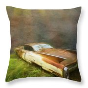 Sunbeams On A Classic Cadillac Throw Pillow