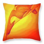 Sunburst Orca Throw Pillow